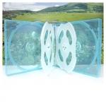 6CD Box; Clear Light Blue