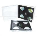 2CD Jewel Case; Black